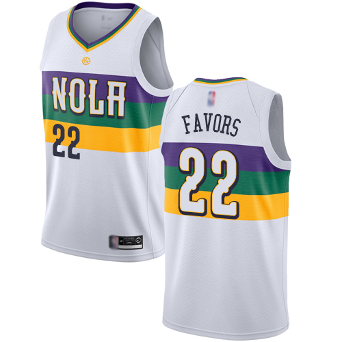 <img src='/pic/Pelicans--2322-Derrick-Favors-White-Basketball-Swingman-City-Edition-2018-19-Jersey-5910-95968.jpg' width=400>